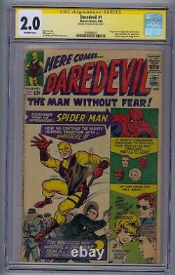 Daredevil #1 Ss Cgc 2.0 Signed By Stan Lee