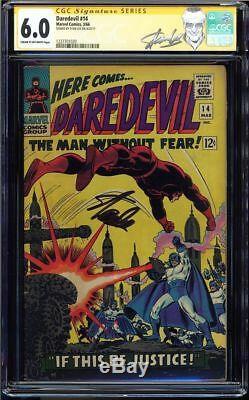 Daredevil #14 Cgc 6.0 Ss Stan Lee Signed Ka-zar Appearance Cgc #1227701020