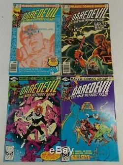 Daredevil Frank Miller Comic Lot #158-#190 #181 Plus #165 Signed By Stan Lee