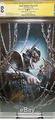 Dark Nights Metal 5 Signed SS Dellotto CGC 9/25 Rare Batman Stan Lee DC Comics