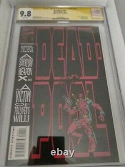 Deadpool #1 1993 9.8 CGC Signature Series, signed by Stan Lee