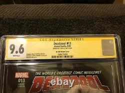 Deadpool 13 CGC SS 9.6 Stan Lee Sign Rob Liefeld Exclusive Variant Movie 8/2016