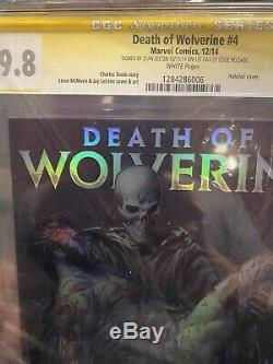 Death of Wolverine #4 CGC Signature Series Signed By Stan Lee On Issue Release
