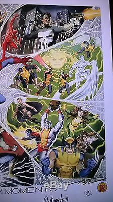 Dynamic Forces Marvel Spiderman Autographed Lithograph Poster Print New Stan Lee