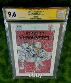 EDGE OF VENOMVERSE 1 CGC 9.6 SS STAN LEE VENOM Sketch/ Signed by NATE MELENDEZ