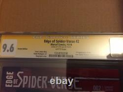 Edge of Spider-Verse #2 CGC 9.6 SS Greg Land Cover, Signed by Stan Lee