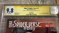 Edge of Spider-Verse #2 Variant. Signed Stan Lee, Greg Land. Cgc 9.8 Mint