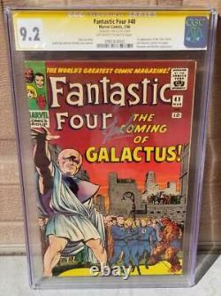 FANTASTIC FOUR #48 CGC 9.2 SS SIGNED Stan Lee 1st Silver Surfer 1 1966 Movie