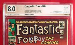 FANTASTIC FOUR #48 (Marvel 1966) PGX 8.0 VF Very Fine signed by writer STAN LEE