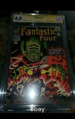 FANTASTIC FOUR #49 CGC 6.0 GALACTUS 1st FULL SILVER SURFER Signed STAN LEE