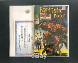 FANTASTIC FOUR #68 SIGNED BY STAN LEE With COA THING BONDAGE COVER KIRBY ART 1 48