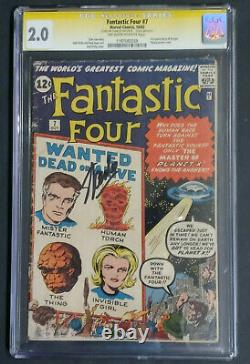 FANTASTIC FOUR #7 CGC 2.0 SS SIGNED STAN LEE. OWithW. 1962. Only 24 copies are SS