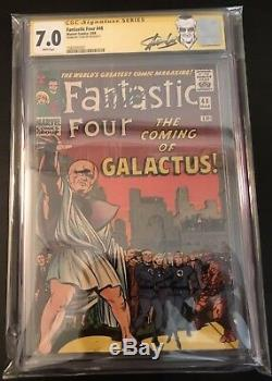 Fantastic Four #1, 5, 45, 46, 48 Key Lot CGC 4.0 9.0 SS Signed By Stan Lee
