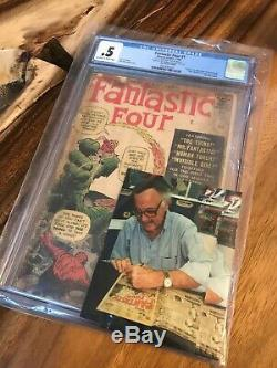 Fantastic Four 1 CGC 0.5 (1961) Complete Signed Stan Lee CGC 2091692001
