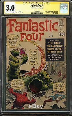 Fantastic Four #1 CGC 3.0 GD/VG Signed STAN LEE Start of Marvel age of Comics