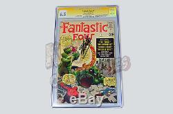 Fantastic Four #1 CGC SS 6.5 Signed by STAN LEE Origin/1st App Fantastic 4