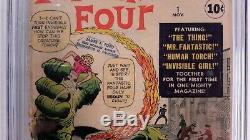 Fantastic Four #1 Cgc 2.5(nov 1961 Marvel)signed By Stan Lee & Jack Kirby
