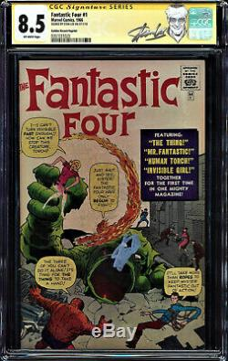 Fantastic Four #1 Cgc 8.5 Ss Stan Lee Signed Grr Cgc #0351031020