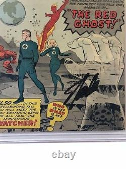Fantastic Four (1961) #13 CGC 6.5 1st Watcher & Red Ghost Signed By Stan Lee