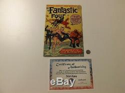 Fantastic Four #4 (1962) Signed by Stan Lee with COA Stan Lee Collectibles