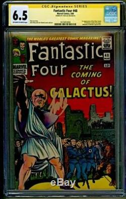 Fantastic Four #48 1st appearance Silver Surfer Galactus Signed Stan Lee CGC 6.5