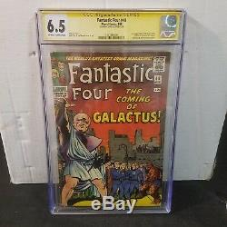 Fantastic Four #48 Cgc 6.5 Ss Signed Stan Lee 1st Silver Surfer