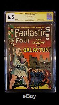Fantastic Four #48 Cgc 6.5 Ss Signed Stan Lee 1st Silver Surfer Galactus