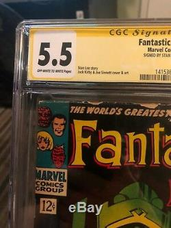 Fantastic Four # 49 CGC SS 5.5 Signed by Stan lee 1st Galactus/2nd Silver Surfer