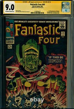 Fantastic Four #49 Cgc 9.0 Ss Signed By Stan Lee! 1st Galactus 2nd Silver Surfer