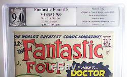 Fantastic Four #5 (Marvel 1962) PGX (not CGC) 9.0 VF/NM signed by STAN LEE