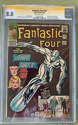 Fantastic Four #50 (1966) CGC 8.0 - Signed by Stan Lee Signature Series Kirby