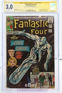 Fantastic Four # 50 CGC 3.0 Signed & sketch by Joe Sinnott Stan Lee story
