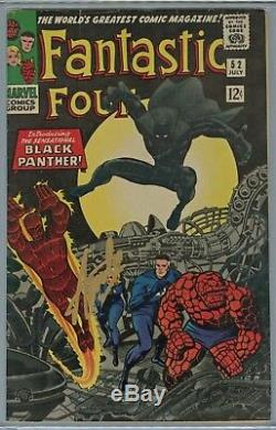 Fantastic Four #52 CGC 6.5 Black Panther First Appearance STAN LEE Signed Auto
