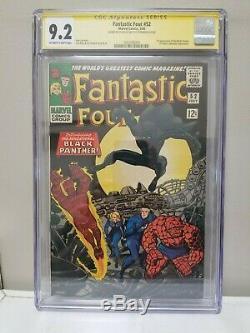 Fantastic Four #52 CGC 9.2 Signature Series Signed by Stan Lee on Back Cover