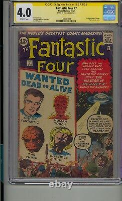 Fantastic Four #7 Cgc 4.0 Ss Signed Stan Lee