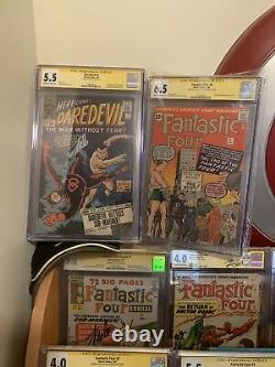 Fantastic Four Signed Stan Lee. 1,2,3,4,5,6,7,9,10,14,27,33Doom Sub Skrulls1st