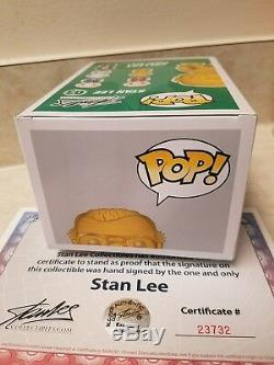 Funko PoP! Stan Lee (Gold) Autographed COA certification sticker & certificate