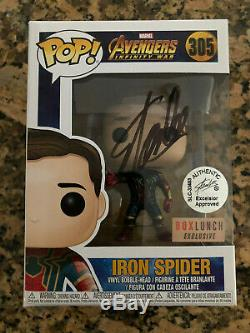 Funko Pop Avengers Infinity War Iron Spider Stan Lee signed with COA