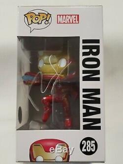 Funko Pop! Avengers Iron Man #285 SIGNED Stan Lee Robert Downey Jr. COA Rare