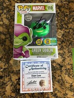 Funko Pop Green Goblin SDCC Stan Lee signed withcoa