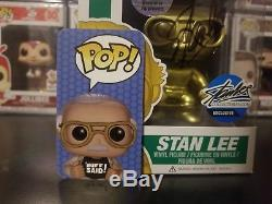 Funko Pop! Stan Lee Gold #03 Signed Autograph COA Excelsior Approved Exclusive