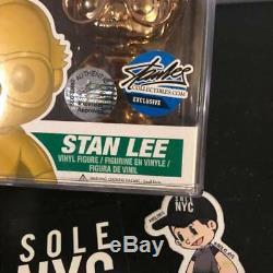 Funko Pop Stan Lee Gold Silver Metallic Chrome Edition Signed SetRare 10pc 1/10