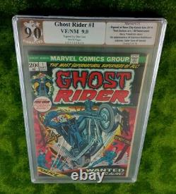 GHOST RIDER 1 PGX (NT CGC) 9.0 SS KEY, 1st Appear HELLSTROM, Signed STAN LEE
