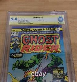 Ghost rider #11 Marvel, 4/1975 Signed By Stan Lee