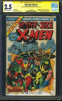 Giant Size X-men 1 Cgc 2.5 2x Signed Claremont & Stan Lee! Great Eye Appeal