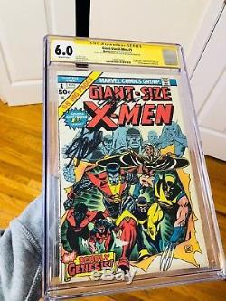 Giant Size X-men 1 Cgc 6.0 2x Signed Chris Claremont & Stan Lee! 1st Storm