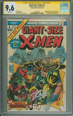 Giant-size X-men #1 9.6 White Pages. Signed By Stan Lee