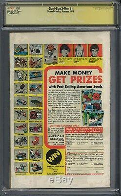 Giant-size X-men #1 Cgc Ss 8.0 First Appearance Of New X-men! Signed Stan Lee