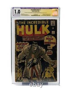 Hulk #1 CGC 1.0 Marvel 1962 RESTORED SIGNED BY STAN LEE