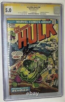 Hulk 180 CGC 5.0 Gold SIGNED BY STAN LEE! Pop 28! First Wolverine